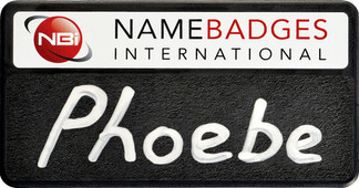 Chalkboard name badges - Black border and white background | www.namebadgesinternational.co.uk